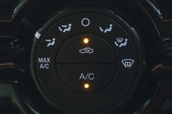 Car AC recirculation button