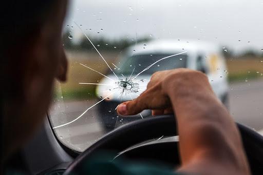 Break Car Front Glass